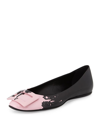 Gommette T-Shirt Splash Flat, Black/Pink