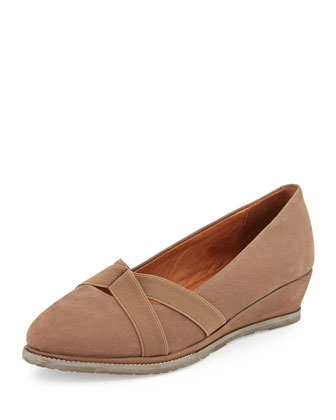 Newman Demi-Wedge Slip-On, Mushroom