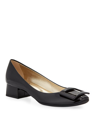 Belle de Nuit Rubber-Sole Pump, Black