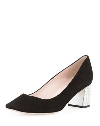 danika too block-heel pump, black