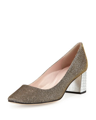 danika too block-heel pump, bronze