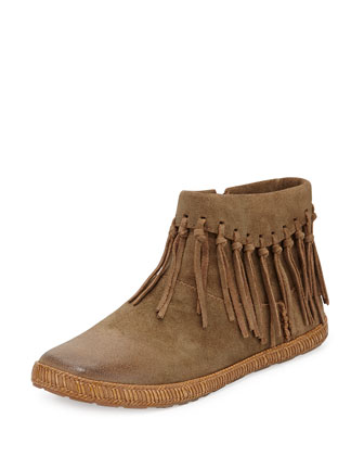 Shenandoah Fringe Suede Ankle Boot, Sugar Pine Chest