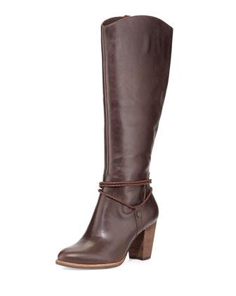 Neoma Leather Knee Boot, Lodge