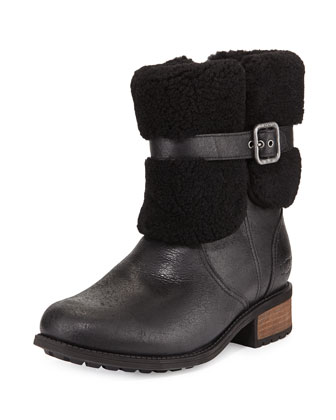 Blayre II Fold-Over Boot, Black