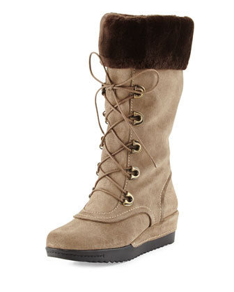 Bigfoot Suede Lace-Up Cold-Weather Boot