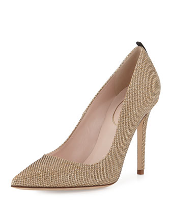 Fawn Sparkle Fabric Pump, Bronze