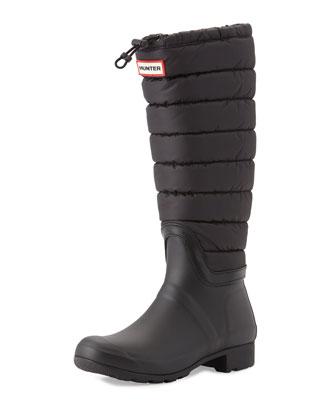Original Quilted Rain Boot, Black