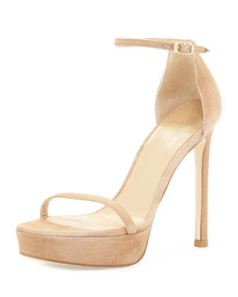 Nudist Platform Suede Sandal