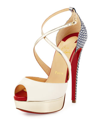 Cross Me Red Sole Sandal, Multi