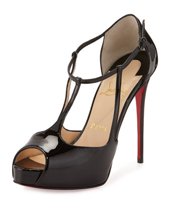 Colibretta Multi-Strap Red Sole Pump, Black