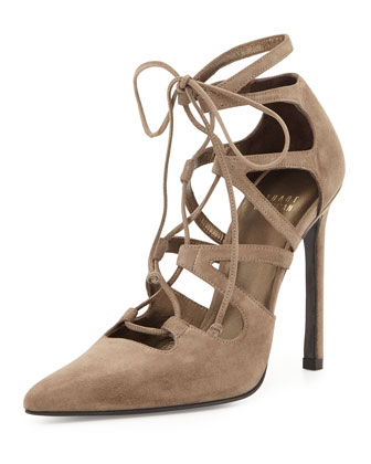 Excite Suede Lace-Up Pump