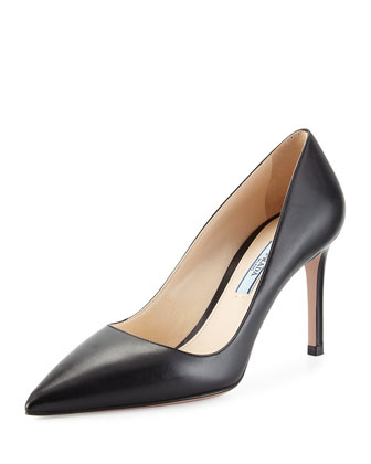 Basic Pointed-Toe Pump, Black (Nero)