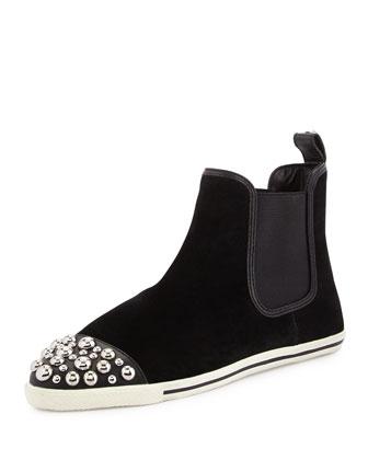 Graham Studded Chelsea Boot, Black