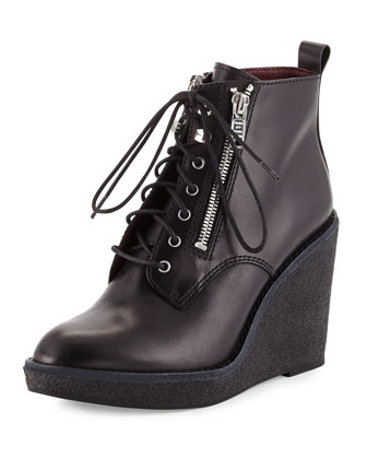 Kit Zip Wedge Bootie, Black