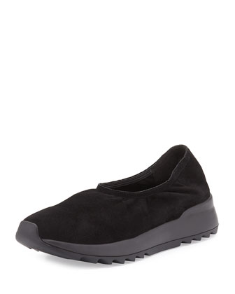 Hug2 Leather Slip-On Loafer, Black