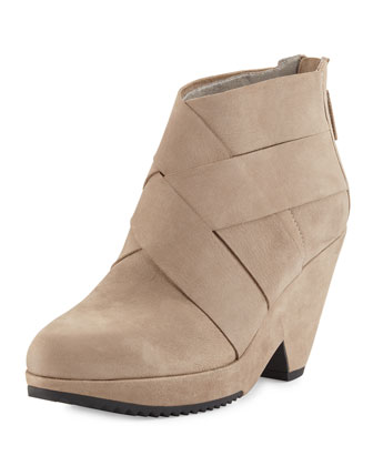 Dream Woven Ankle Bootie, Earth