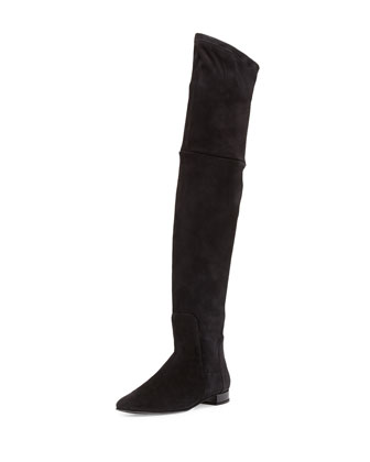 Evoke Suede Over-the-Knee Boot, Black