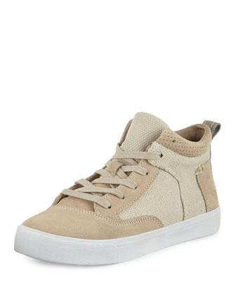 Camila High-Top Canvas Sneaker, Natural