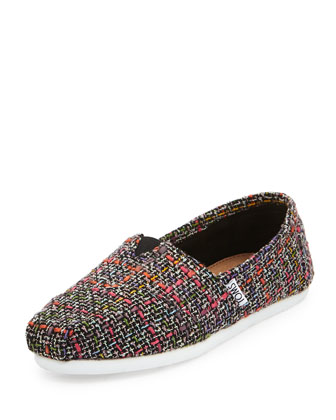 Alpargata Boucle Slip-On, Black/Pink