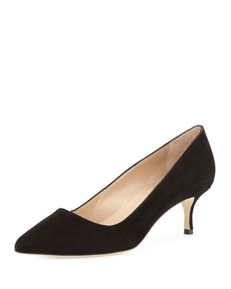 Suede BB 50mm Pump, Black