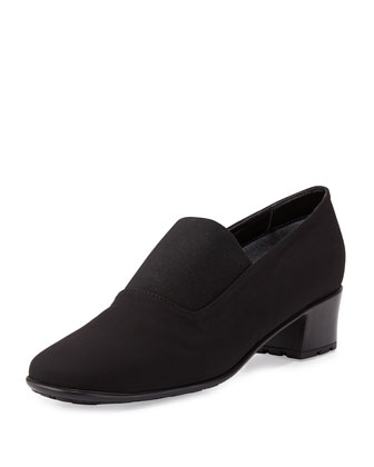 Yasemin Stretch-Fabric Pump, Black