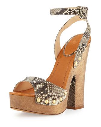 Zoee Python Platform Sandal, Neutral