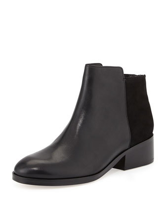 Elion Leather Ankle Bootie, Black