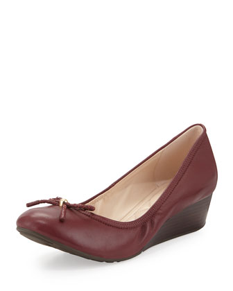 Tali GRAND/OS Ballerina Wedge, Zinfandel