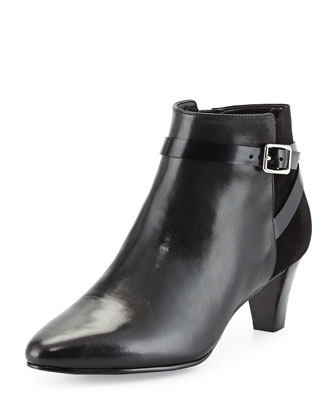 Sylvan Leather Ankle Bootie, Black