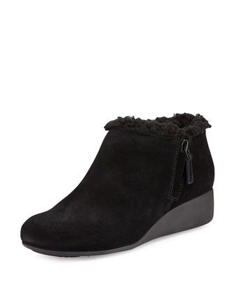 Callie Faux-Shearling-Lined Slip-On, Black