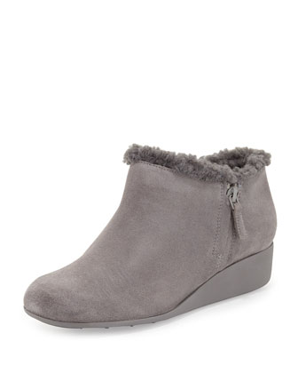 Callie Faux-Shearling-Lined Slip-On, Iron Stone