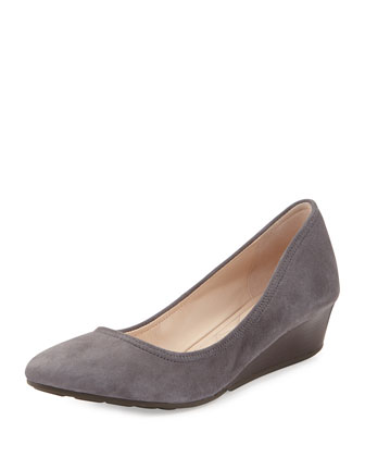 Tali Luxe Wedge Pump, Storm Cloud