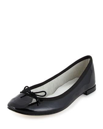 Cendrillon Patent Ballet Flat, Black