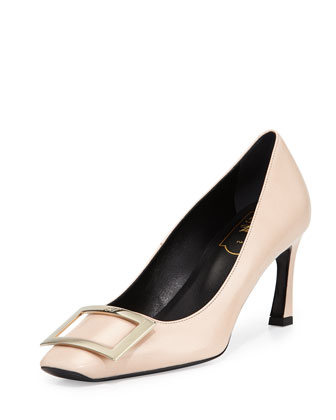 Decollete Belle Vivier Pump, Nude