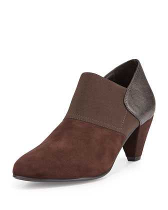 Belda Suede Slip-On Bootie, Moro Brown