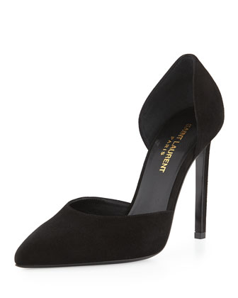 Suede d'Orsay 105mm Pump, Black