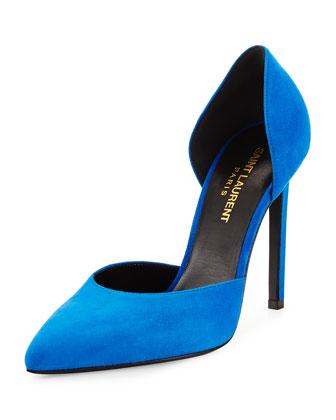 Suede d'Orsay Pump, Blue