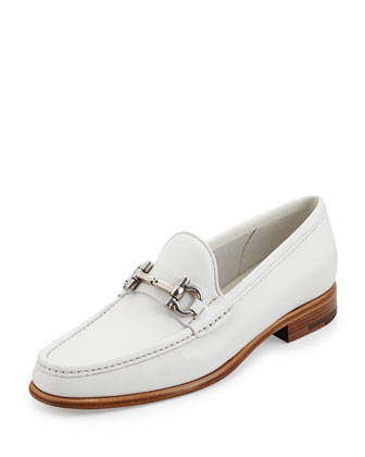 Mason Leather Gancini Loafer, Newsprint