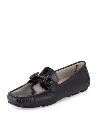 Parigi Patent Gancini Loafer, Black (Nero)