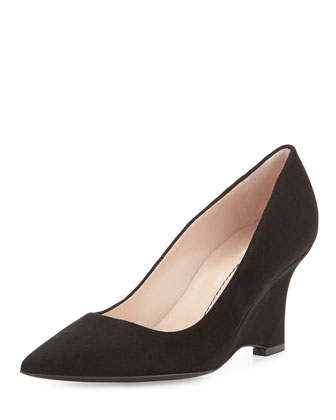 Musa Curved-Wedge Pump, Onyx