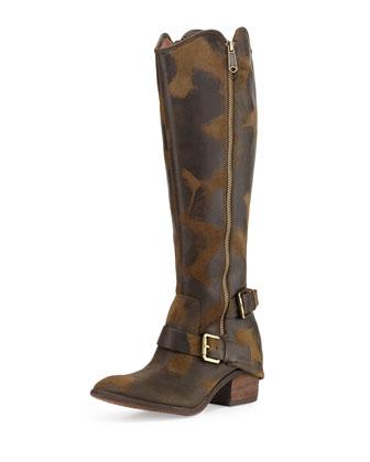 Dela Vintage Suede Riding Boot, Olive