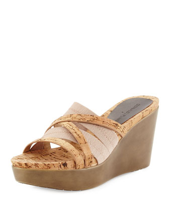 Jean Strappy Wedge Sandal, Natural
