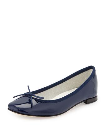 Cendrillon Patent Ballerina Flat, Classique Navy