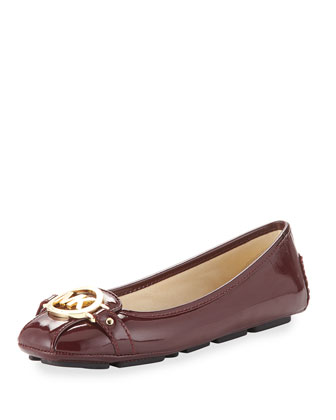 Fulton Patent Leather Moccasin, Merlot