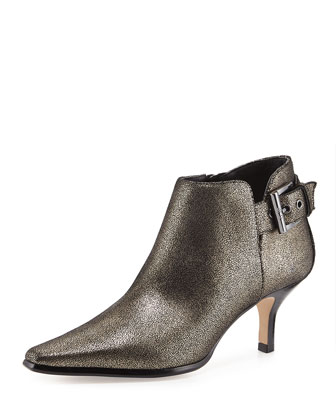 Lure Metallic Ankle Bootie, Black Pewter