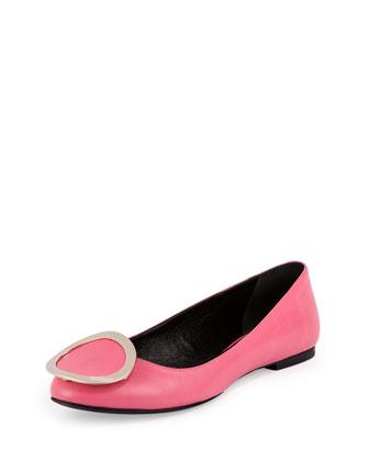 Ballerine Round Buckle Flat, Bubble Gum Pink