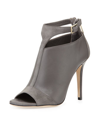 Viana Leather Ankle Bootie, Mist