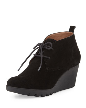Makko Lace-Up Bootie, Black