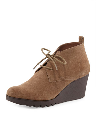Makko Lace-Up Bootie, Taupe
