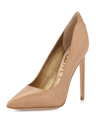 Dea Layered Leather Pump, Camel